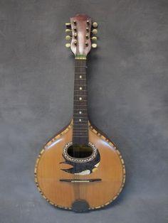 Italian Fratelli Indelicato inlaid mandolin    #TuscanyAgriturismoGiratola
