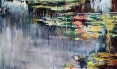 Joanne Reen | Nymphaea De Giverny - waterscape oil on board painting available for sale | StateoftheART South African Artists, Painted Boards, Frame Sizes, Wood Paneling, Original Paintings, Oil, Inspired, Gallery, Artwork