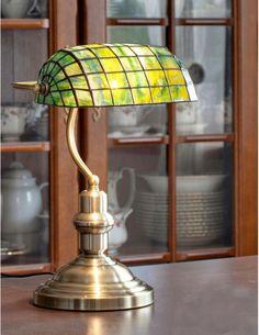 Piano lámpara, lámpara de la biblioteca, Piano luz, vidrieras lámpara, lámpara de mesa, lámpara de oficina, decoración de oficina, decoración, lámpara verde de mesa 783,07 US$
