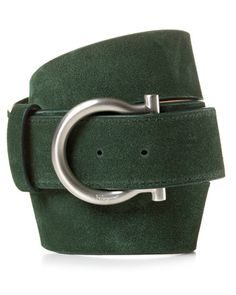 guys - you can always wear a black leather belt, it is a classic, but this green suede one will really catch her eye