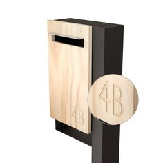 Modern Custom Mailbox Javi Post Mount Letterbox by JaviDesign
