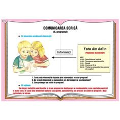 Plansa Comunicarea verbala - comunicarea scrisa - programul