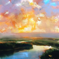 river flow - Oil Craig Mooney