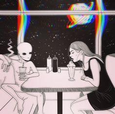 Ριитєяєѕт ℓαυяαααмууу ♡ aesthetics в 2019 г. fondos, fondos de aliens и fon Psychedelic Art, Alien Aesthetic, Aesthetic Art, Beach Aesthetic, Art Pop, Dope Kunst, Art Alien, Bizarre, Dope Art
