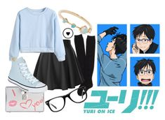 """Gender Bend Yuri Katsuki - Yuri On Ice"" by princesselesa ❤ liked on Polyvore featuring WWAKE, Aéropostale, Dolce&Gabbana, Converse and Muse"