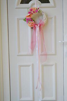ružový veniec na dvere - typ 2
