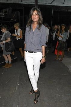 cambray shirt + white skinnies + great shoes = easy