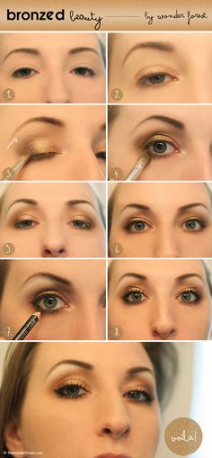Bronzed Beauty: Golden Smokey Eye Tutorial | Wonder Forest: Design Your Life.