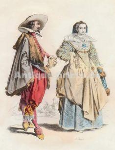 Noblesse Lorraine, Règne De Louis XIII, D´après Jacques Callot, 1625