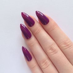 Purple Stiletto nails, Nail designs, Nail art, Nails, Stiletto nails,... ($17) ❤ liked on Polyvore featuring beauty products, nail care, nail treatments, nails and makeup