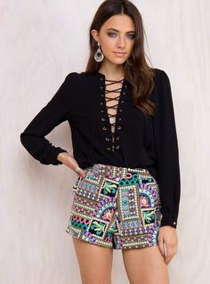 Free Fall Blouse(NOT W/ THESE SHORTS)