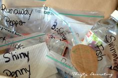 In the bag is everything needed to perform these simple  experiments.