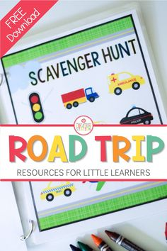 Heading on a road trip with little ones? These free road trip printables are great to use in the car, airplane or bus! Simply print each page, place in a page protector and use a dry erase marker for hours of entertainment and learning. #roadtrip #kidactivities #preschool #kindergarten
