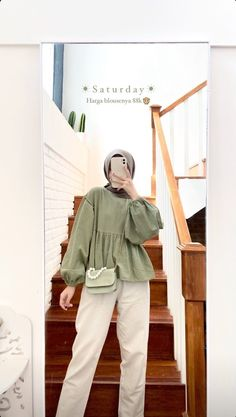 Ootd Hijab, Casual Hijab Outfit, Casual Outfits, Fashion Outfits, Modern Hijab Fashion, Hijab Fashion Inspiration, Muslim Fashion, Cute Modest Outfits, Hijabs