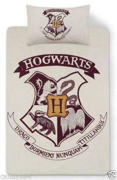 PRIMARK HOME Red Harry Potter Single Duvet Set REVERSIBLE SINGLE DUVET COVER