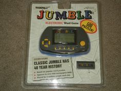 Jumble Electronic Word Game (video Game Hand Held Puzzles Fun Ages 8 & Up) Tech Toys, Word Puzzles, Word Games, Holding Hands, Hold On, Video Games, Electronics, Words, Amp