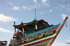 Cittadina di Al Hudaydah: barca caratteristica