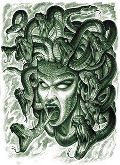 Resultado de imagen para medusa mitologia tatuaje