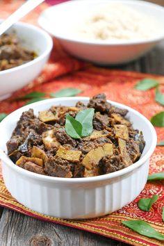 Instant Pot Kerala Beef Fry on MyHeartBeets.com