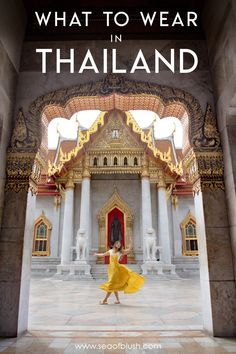 What to Wear in Thailand the Dos and Don'ts You Need to Know.  How to pack for Thailand.  What to wear to temples in Thailand like Wat Arun and the Grand Palace in Bangkok.  #bangkok #thailand #ootd #travel #packinglist #asia #watarun