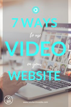 Looking to add video to your Website? Here's 7 ways to effectively incorporate video today! Content Marketing Strategy, Business Marketing, Social Media Marketing, Digital Marketing, Creative Business, Business Tips, Online Business, Web Design Tips, Business Website