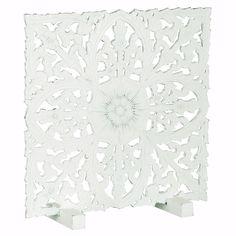 Insynsskydd i trä - White Flower