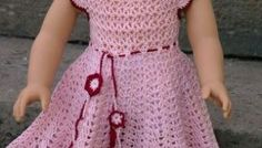 American Girl Doll Apple Blossom Dress by ABC Knitting Patterns