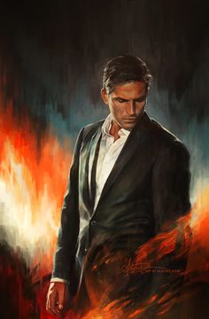 PRINT AVAILABLEHe who fights with monsters might take care lest he thereby become a monster. And if you gaze for long into an abyss, the abyss gazes also into you. Painting exercise. Mr. John Reese...