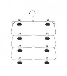 Perfect for over-flowing closets // Whitmore 4-Tier Folding Skirt Hanger
