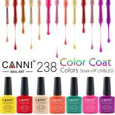 CANNI UV Nail Polish 25-48 Bling Shiny UV Gel Nail Polish Varnish LED Soak Off Glue Nail Art UV Gelpolish 238Colors CN03