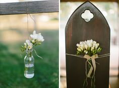 Pretty country style pew decorations. Hunter Valley wedding photographer.  Image: Cavanagh Photography Pew Decorations, Wedding Ceremony Decorations, Hunter Valley Wedding, Country Style, Portrait Photographers, Rustic Style, Farmhouse Style, Church Pew Decorations, Wedding Decoration