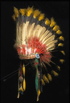 Northern Plains War Bonnet  --  Early 20th Century  --  Hood Museum of Art