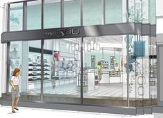 Rendering of CVS Pharmacys upcoming luxury beauty stores called Beauty 360