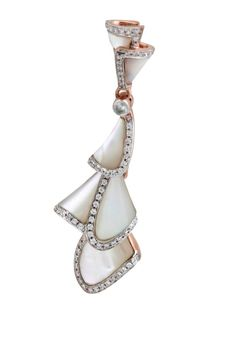 Admirable Natural White Shell Pendant With 0.59 Ct White Diamond,Sterling Silver #FacetsJewels #NaturalShellPendant