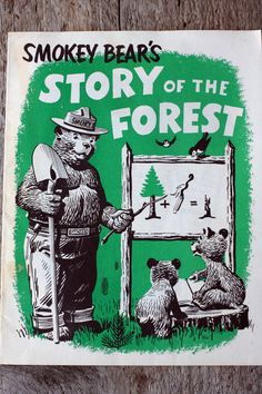 Vintage Smokey the Bear Booklet Elliot S Barker, state game warden,  found a burnt bear cub from a New Mexico forest fire. This is the cub that became Smokey the Bear. Elliott was my 3rd Cousin 4x Removed Info from ancestry.com