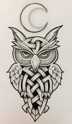 15 Popular Celtic Tattoo Designs and Meanings Do you believe in the importance of Celtic tattoos? Why not get them etched on your body? In this article, we have compiled some of the best Celtic tattoo designs with detailed explanation. Owl Tattoo Design, Tribal Tattoo Designs, Tattoo Designs And Meanings, Tribal Owl Tattoos, Irish Symbols And Meanings, Geometric Tattoos, Celtic Patterns, Celtic Designs, Tattoo Drawings
