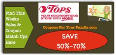 Tops Coupon Matchups April 6 - 12: Free Lloyds Tubs, Finish Dish Detergent & Colgate plus $.73 Domino Sugar and more : #GroceryStores, #Stores, #Tops Check it out here!!