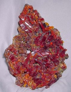 Amazing++minerals+crystals | red color of this amazing Zincite specimen. Each natural crystal ...