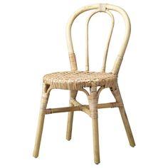 IKEA - VIKTIGT, Stol, Hvert møbel håndlavet og derfor unikt.Møbler fremstillet af naturfibre er lette men også solide og holdbare.Du kan stable stolene, så de fylder mindre, når du ikke bruger dem.