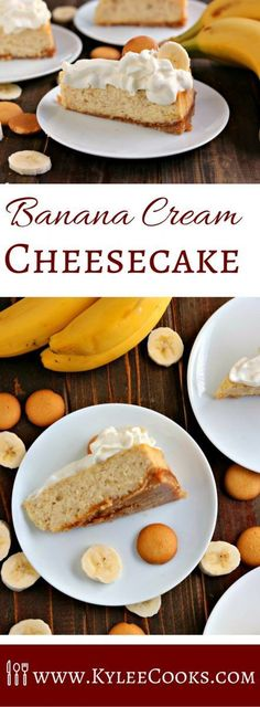 A delicious hybrid of Banana Cream Pie and cheesecake makes this dessert a rich, creamy, pile of cheesecake-y banana deliciousness. Its the perfect finale to any meal! via /kyleecooks/ Mini Desserts, Easy Desserts, Delicious Desserts, Yummy Food, Banana Cream Cheesecake, Best Cheesecake, Cheesecake Recipes, Oreo Dessert, Cupcakes