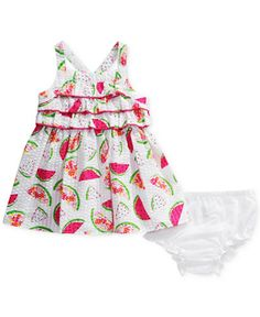 Sweet Heart Rose Watermelon-Print Seersucker Dress, Baby Girls (0-24 months)