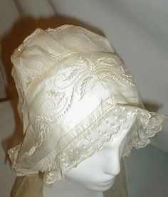 [Oh wow.  Beautiful.]   All The Pretty Dresses: 1810's Regency Day Cap