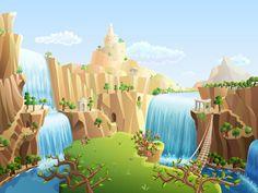 Happy Builder 2. Buildings and backgrounds. by Larisa Kalinovskaya, via Behance