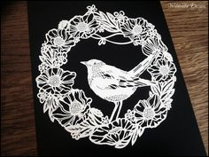 Commercial & Personal Use Can Be by on Etsy Paper Cutting Templates, Card Templates, Nightingale Bird, Cut Out Art, Business Stationary, Laser Paper, Animal Silhouette, Used Vinyl, Wedding Templates