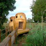 An Owl-Shaped Cabin Invites You to Sleep off the Grid in Bordeaux, France