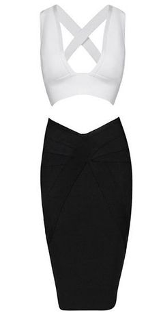 Marele Two-Piece Bandage Dress