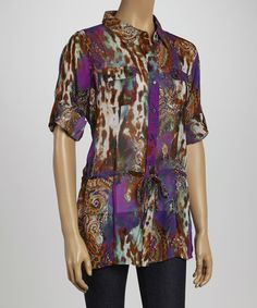 Take a look at this Purple Animal Paisley Top by Thesis on #zulily today! $17 !!