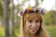 Corona de flores multicolor flores variadas por TheLittleNemo
