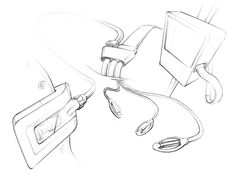 This is a good example of how simple line work can communicate form and movement. #product sketching