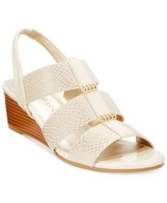 Karen Scott Johane Stretch Wedge Sandals, Only at Macy's